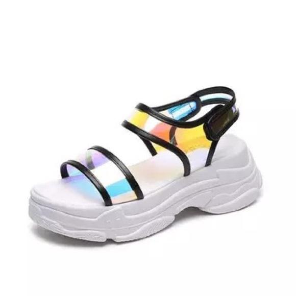 Shoes   Neon Platform Sandals   Poshmark